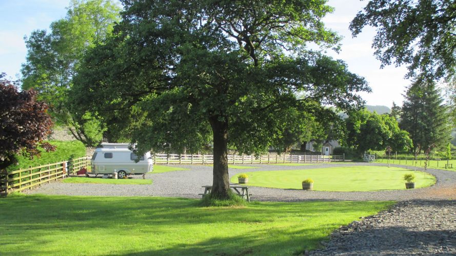 A caravan site North Wales set in a peaceful location