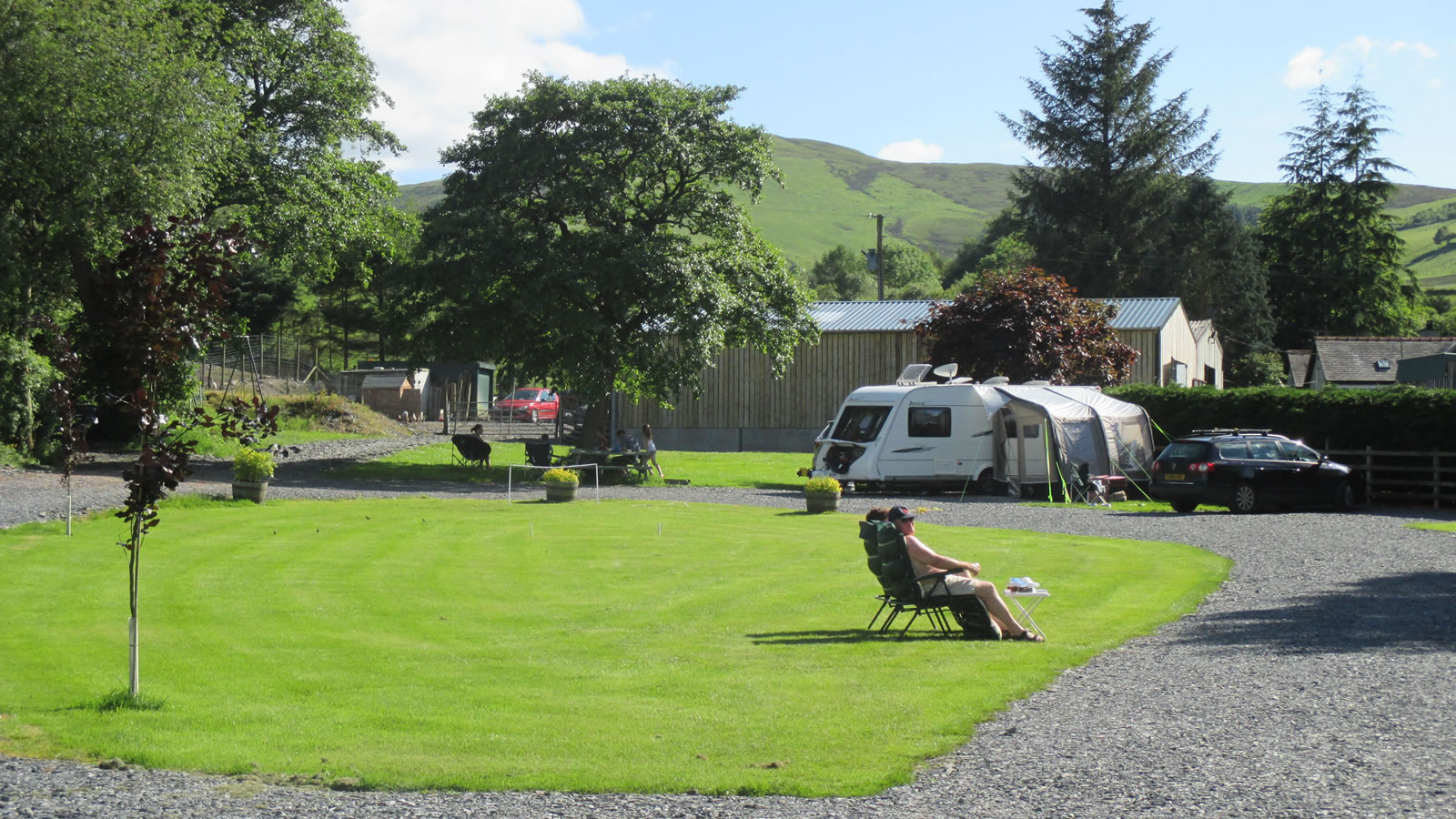 Ty Newydd Caravan Site North Wales, ample parking facilities